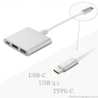 Cáp chuyển USB Type-C sang HDMI + USB 3.0