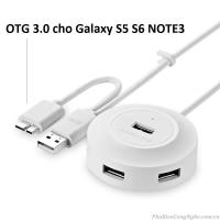 Bộ chia USB 4 cổng hỗ trợ OTG chính hãng Ugreen 20276 / 20275