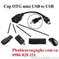 Cáp OTG đầu vuông Mini USB to USB