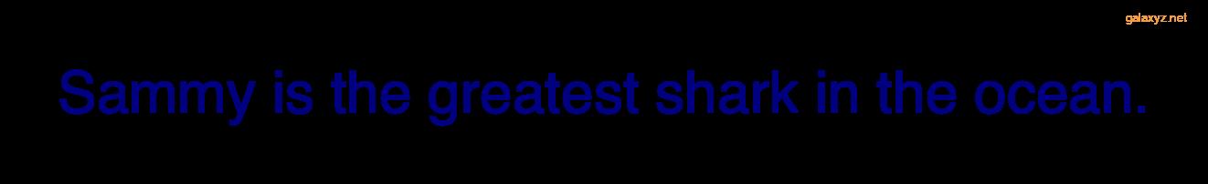 Văn bản được hiển thị bằng màu xanh nước biển với phông chữ sans serif tùy chỉnh.