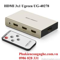 Bộ gộp HDMI 3 vào 1 ra hỗ trợ 4k x 2k chính hãng Ugreen 40278