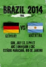 World Cup 2014 – Chung kết – Đức Vs Argentina ()
