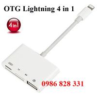 Cáp OTG lightning 4 in 1 cho Iphone Ipad